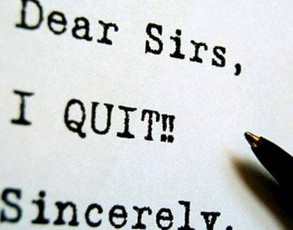 Quitting the Desk Job.