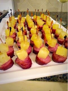 Kielbasa Pineapple Appetizer