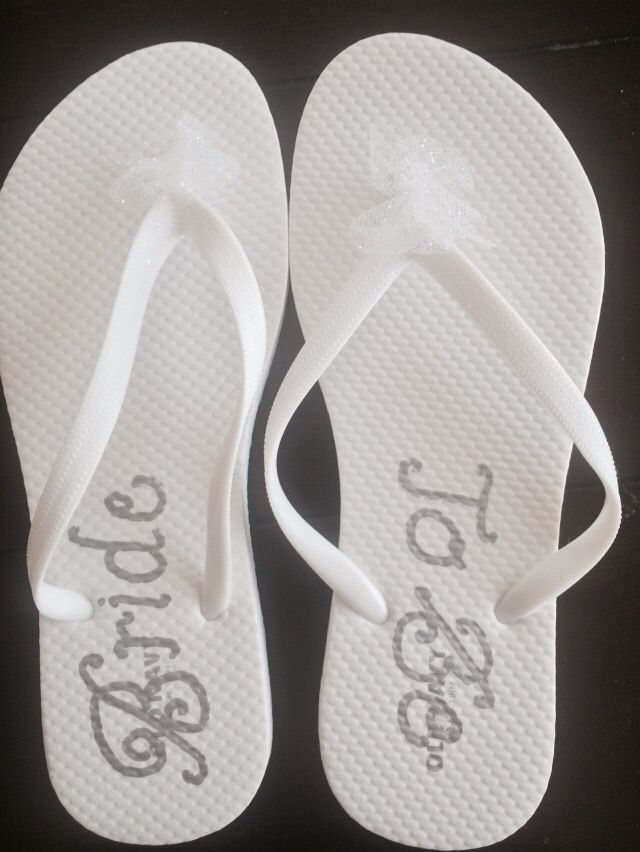 DIY Bride Flip Flops for the Bachelorette Party!