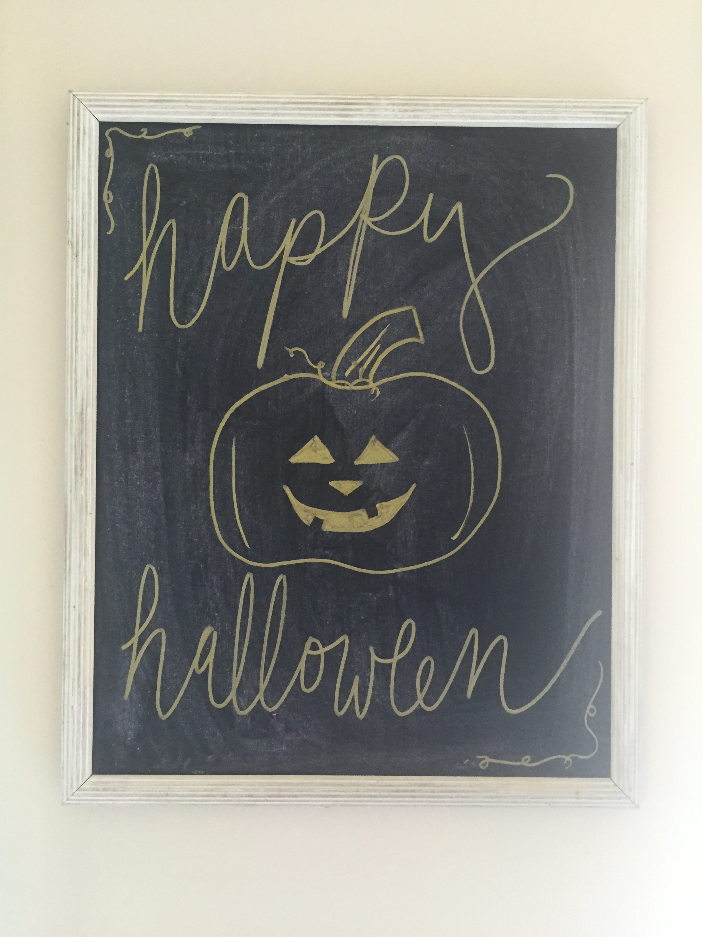 happy halloween easy diy sign