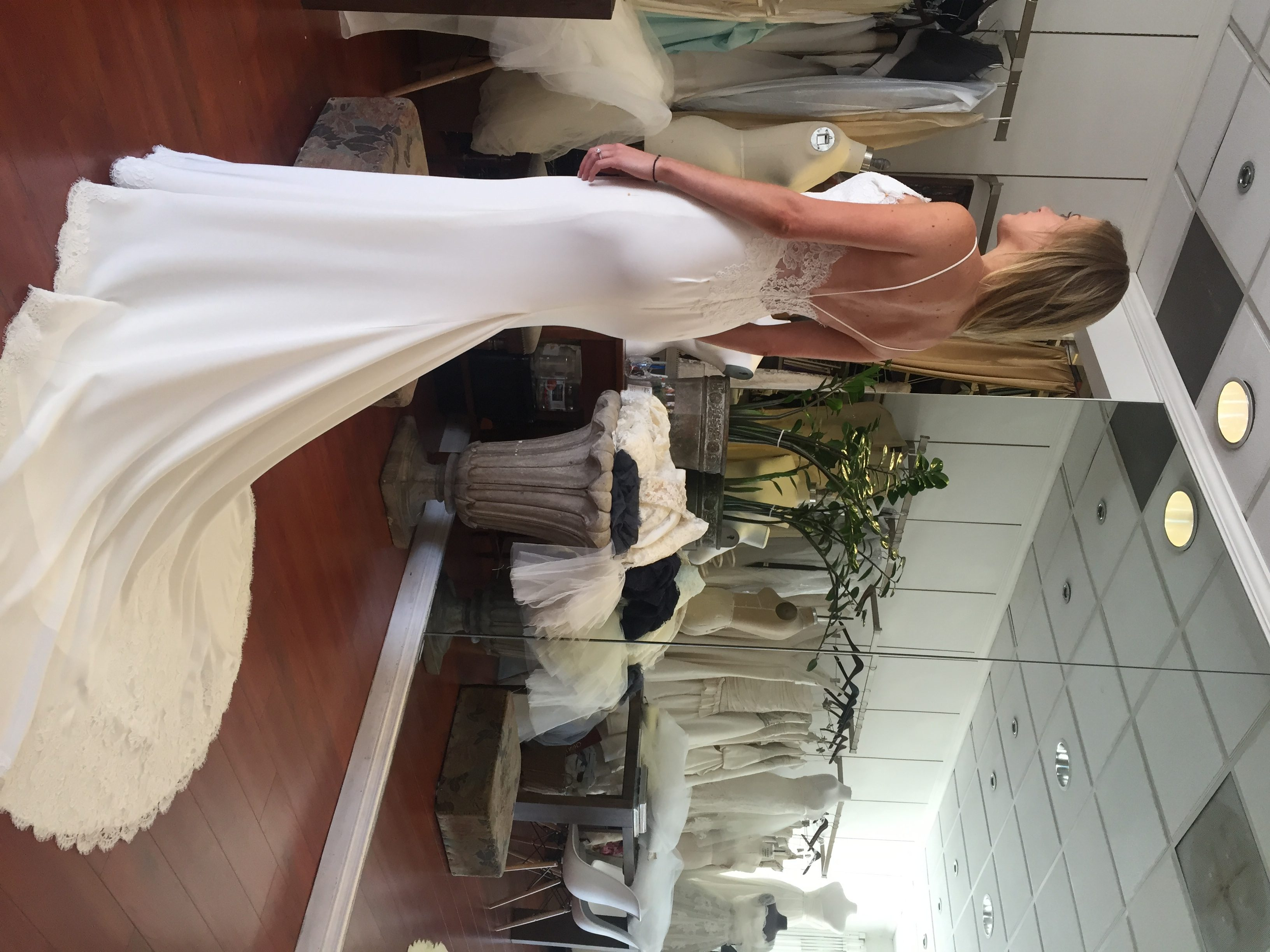 having your wedding dress made
