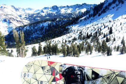 snowboard in mammoth