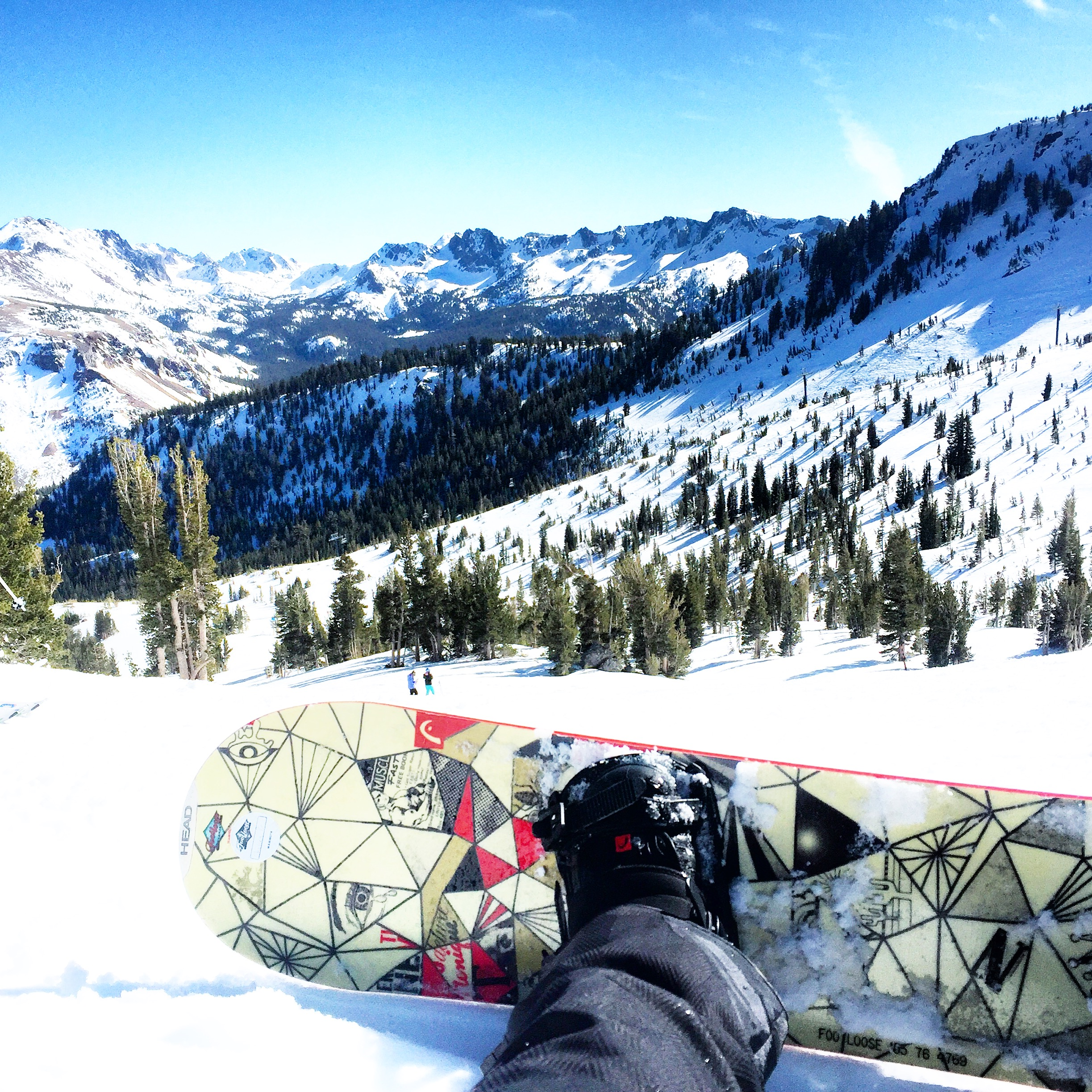 snowboard in mammoth