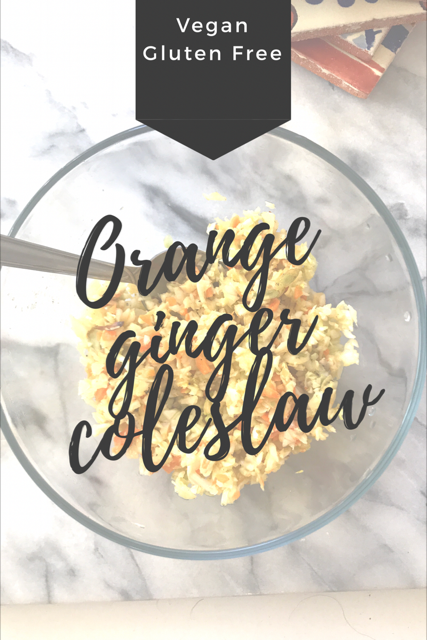 Easy Vegan Orange Ginger Coleslaw Recipe!
