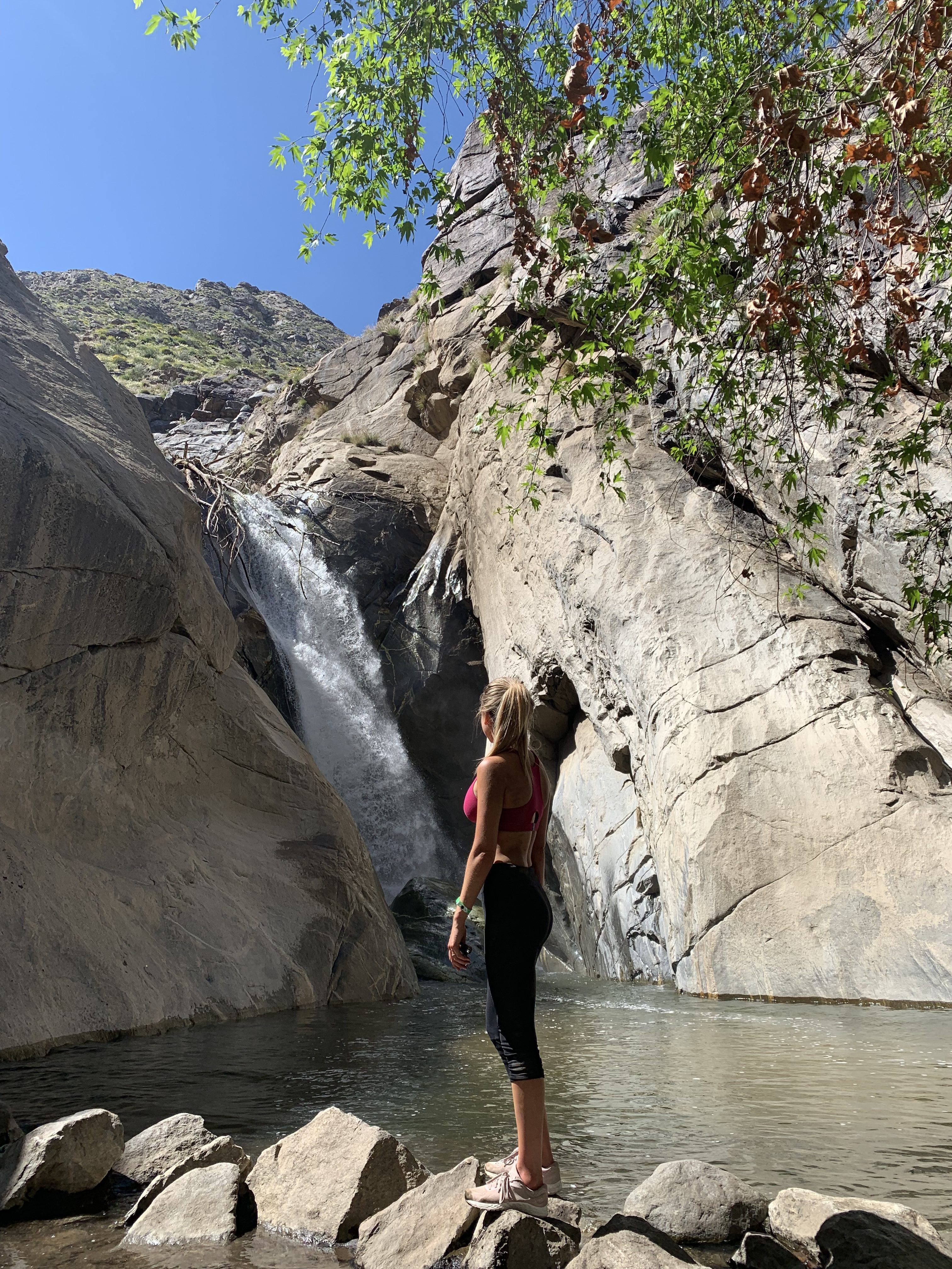 hike to a waterfall Palm Springs
