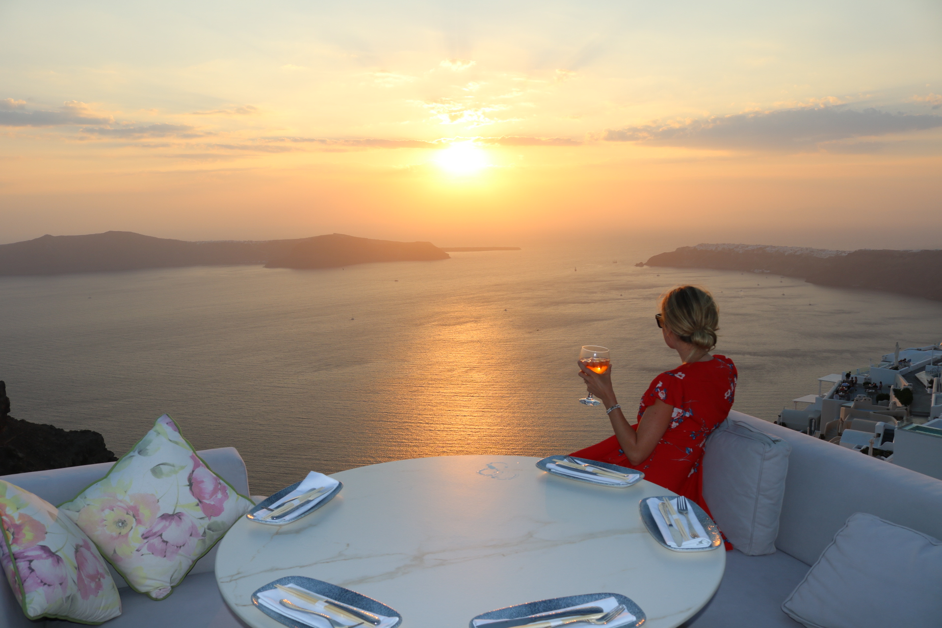 best place to watch sunset in Santorini