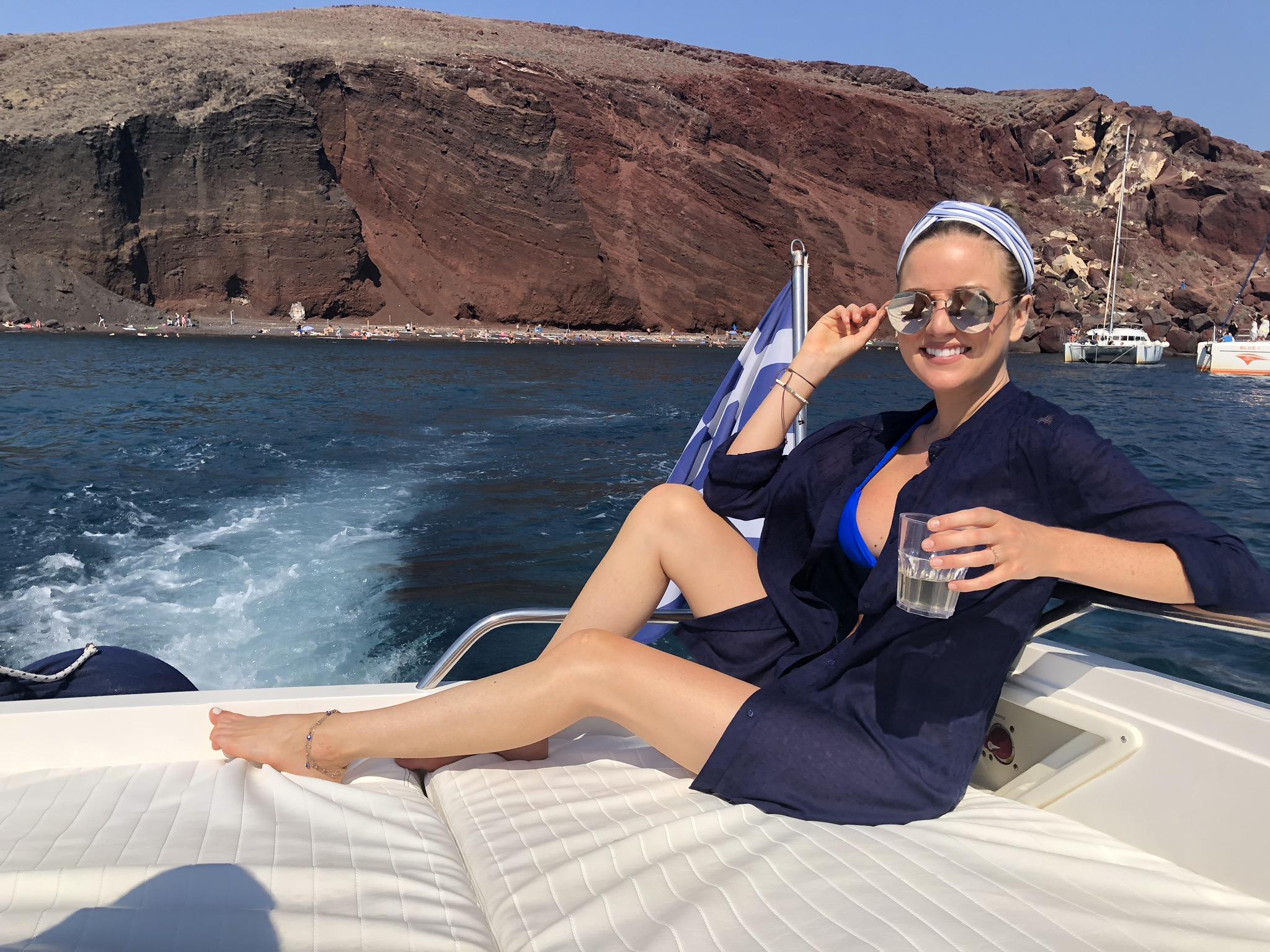 boat rental Santorini private