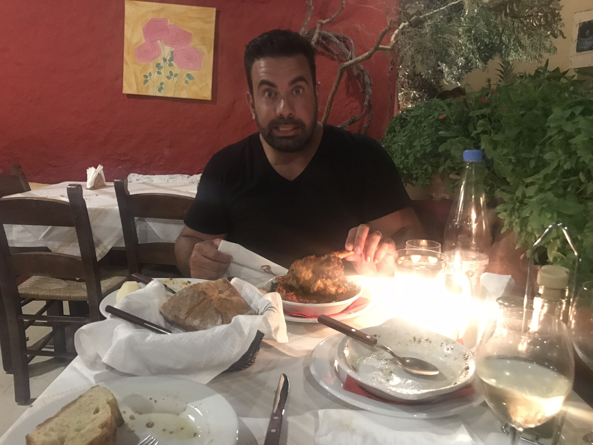 best dinner in Santorini