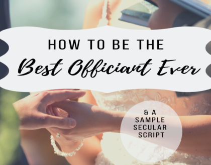 Officiant Guide: Non-Religious Ceremony Script