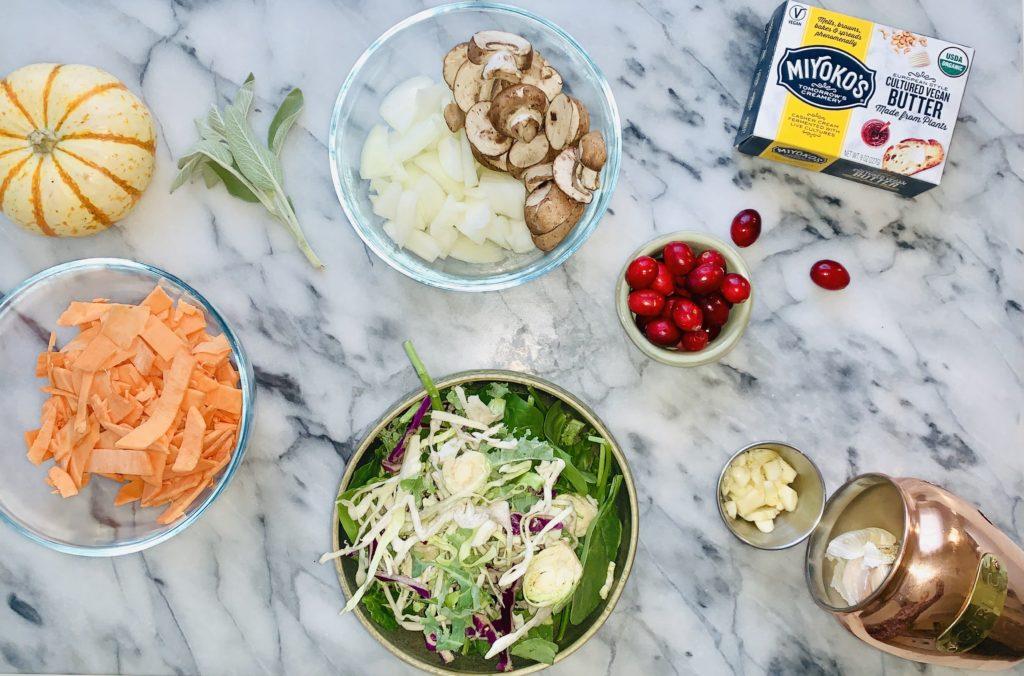 cholesterol lowering gluten free vegan dinner recipe stir fry sweet potatoes, superfood fall recipe