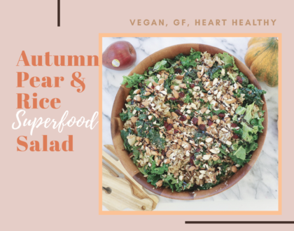 best vegan salad recipe, heart healthy fall salad recipe, easy vegan salad