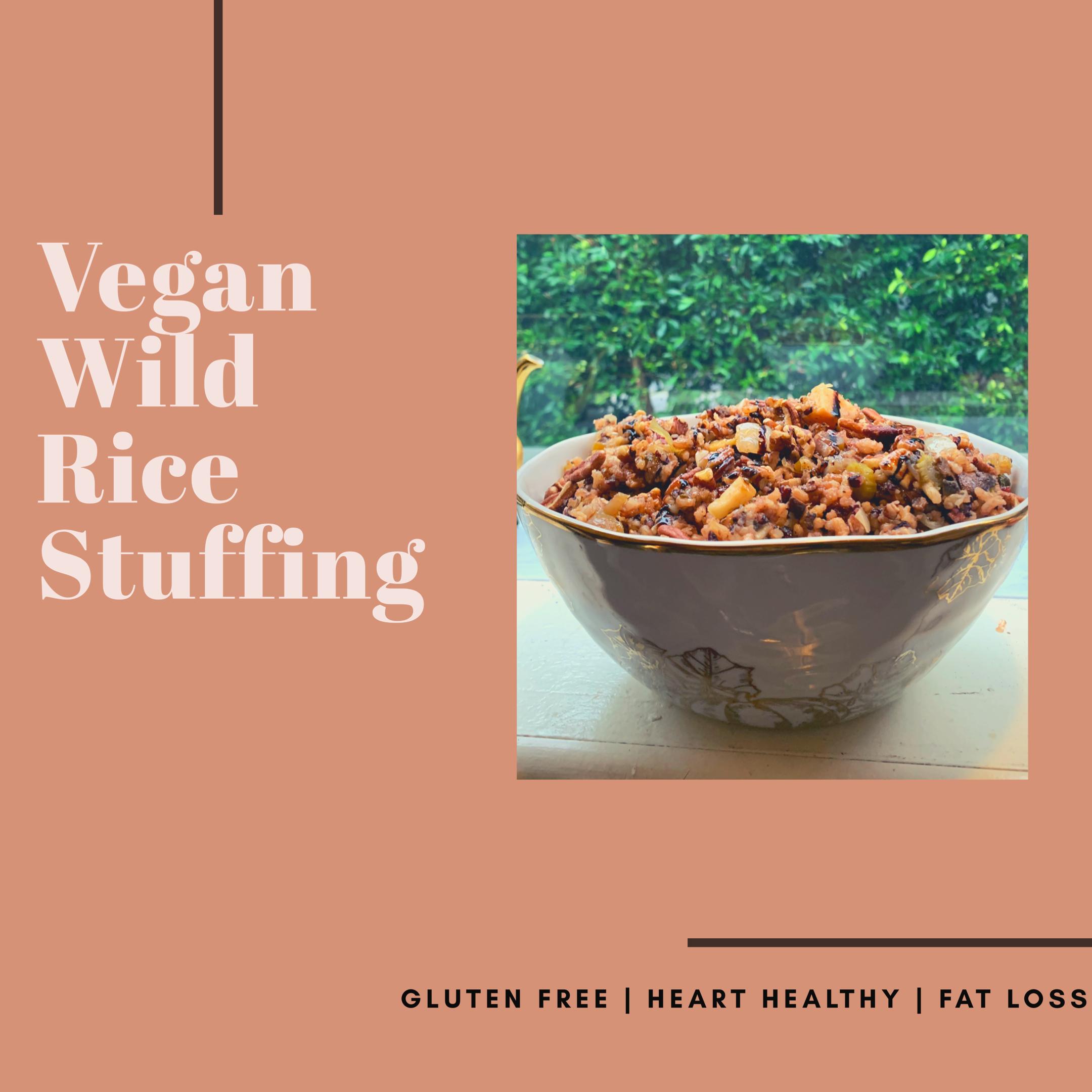 Wild Rice Stuffing {Vegan & Gluten Free}