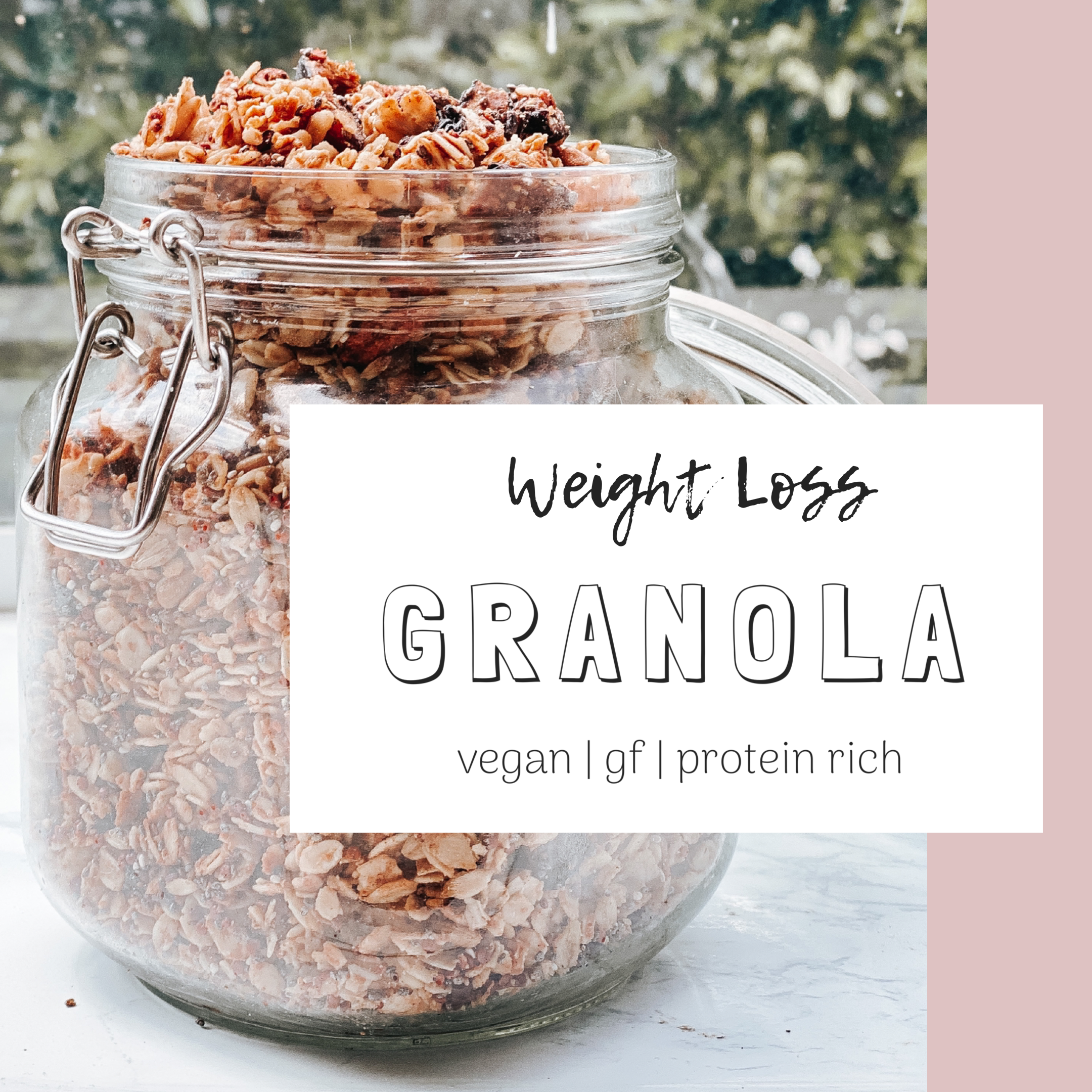 Easy Weight Loss Granola Recipe (V + GF)